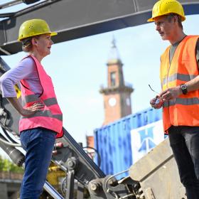 Baustellenführung: Hafen Dortmund