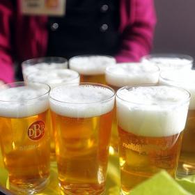 Fröhliche Bollerwagentour: Bewegte Bierprobe